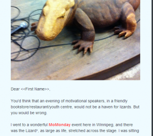 lizard newsletter