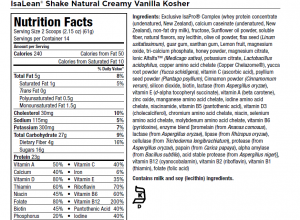 kosher shake ingredients